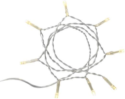 Micro-Lichterkette batteriebetrieben 8 LED Warm-Weiß Beleuchtete Länge: 1.05 m Polarlite DIY-01-001