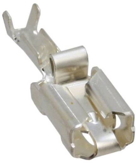 Flachsteckhülse vibrationssicher Steckbreite: 6.35 mm Steckdicke: 0.81 mm 180 ° Unisoliert Silber TE Connectivity 341002