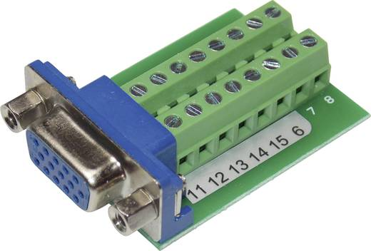 Conrad Components VGA15F-16TB-2 VGA-Steckverbinder Buchse, Einbau vertikal Polzahl: 15 Silber 1 St.