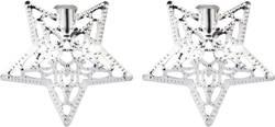 Dekorativní nástavce DIY-02-002 pro světelné řetězy s 8 LED Polarlite, stříbrné hvězdy