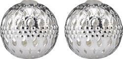 Dekorativní nástavce DIY-02-005 pro světelné řetězy s 8 LED Polarlite, stříbrné kouličky