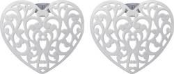 Dekorativní nástavce DIY-02-004 pro světelné řetězy s 8 LED Polarlite, bílé srdce