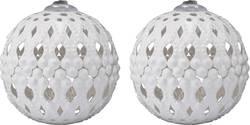 Dekorativní nástavce DIY-02-004 pro světelné řetězy s 8 LED Polarlite, bílé kouličky
