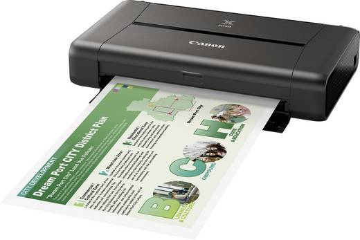 Canon PIXMA IP110 + AKKU Tintenstrahldrucker A4 Drucker WLAN, Akku-Betrieb