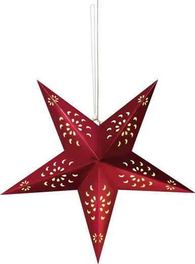 Fenster-Dekoration Stern Warm-Weiß LED Polarlite Rot