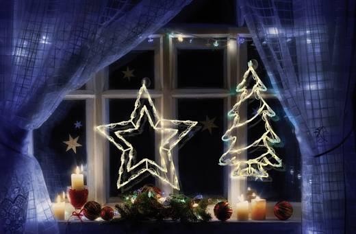 Polarlite LDE-02-008 LED-Weichnachtsstern Stern Warm-Weiß LED Transparent