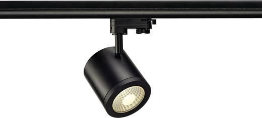 Hochvolt-Schienensystem-Leuchte 3phasig LED fest eingebaut 9 W LED SLV Enola Schwarz