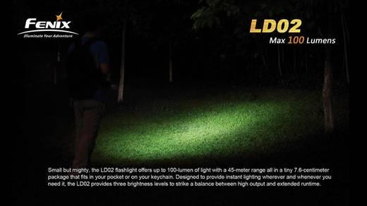 Fenix LD02 LED Mini-Taschenlampe batteriebetrieben 100 lm 14.5 h 16 g