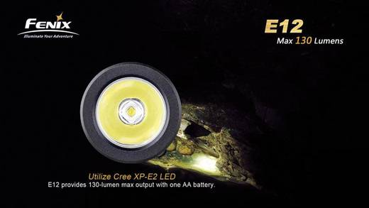 LED Mini-Taschenlampe Fenix E12 batteriebetrieben 130 lm 22 h 29 g