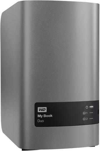 Externe Festplatte 8.9 cm (3.5 Zoll) 8 TB Western Digital My Book® Duo Metallic-Silber, Anthrazit USB 3.0 RAID-fähig, Cl
