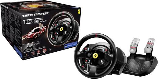 Lenkrad Thrustmaster T300 Ferrari GTE Wheel PlayStation® 4, PlayStation® 3, PC Schwarz