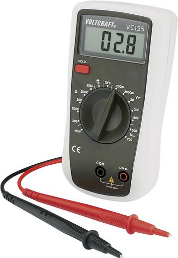 Hand-Multimeter digital VOLTCRAFT VC135 Kalibriert nach: ISO CAT III 600 V Anzeige (Counts): 2000