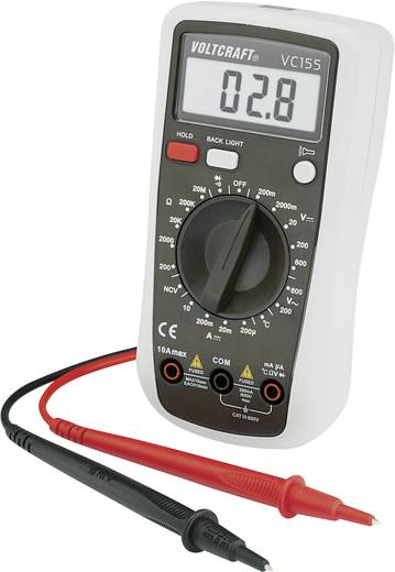Hand-Multimeter digital VOLTCRAFT VC155 Kalibriert nach: DAkkS CAT III 600 V Anzeige (Counts): 2000