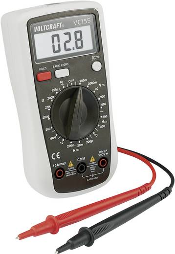 Hand-Multimeter digital VOLTCRAFT VC155 Kalibriert nach: Werksstandard CAT III 600 V Anzeige (Counts): 2000