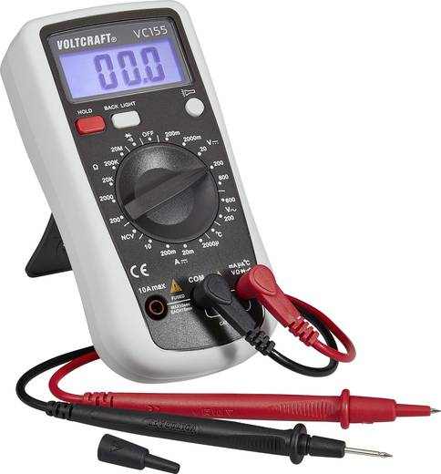 Hand-Multimeter digital VOLTCRAFT VC155 Kalibriert nach: ISO CAT III 600 V Anzeige (Counts): 2000