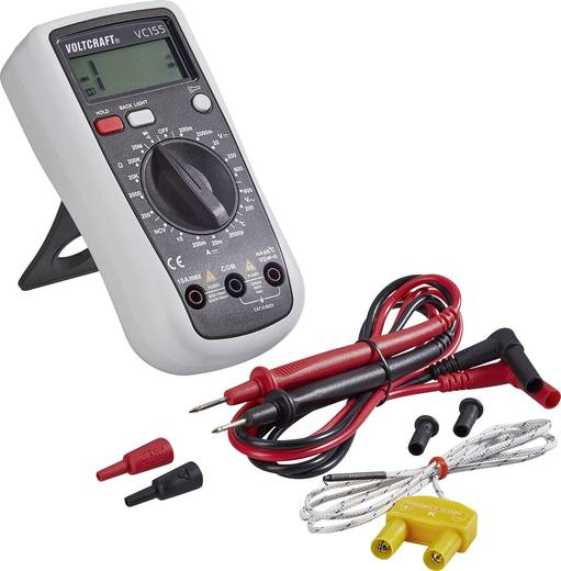 VOLTCRAFT VC155 Hand-Multimeter digital Kalibriert nach: ISO CAT III 600 V Anzeige (Counts): 2000