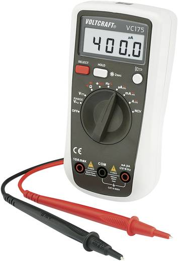 Hand-Multimeter digital VOLTCRAFT VC175 Kalibriert nach: Werksstandard CAT III 600 V Anzeige (Counts): 4000