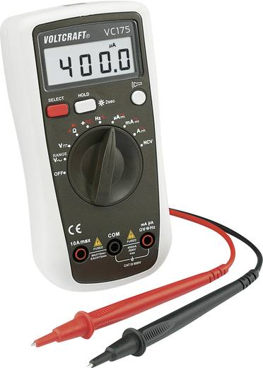 VOLTCRAFT VC175 Hand-Multimeter digital Kalibriert nach: ISO CAT III 600 V Anzeige (Counts): 4000