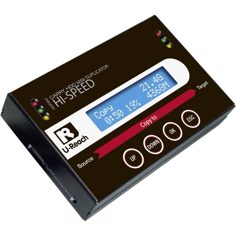 Renkforce PRO250 1x HDD-kloningsstation SATA med raderingsfunktion, portabel