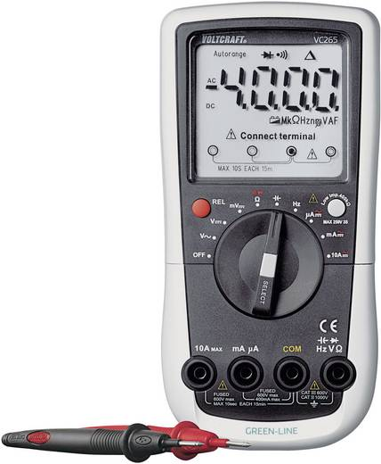 Hand-Multimeter digital VOLTCRAFT VC265 Kalibriert nach: ISO CAT III 600 V Anzeige (Counts): 4000
