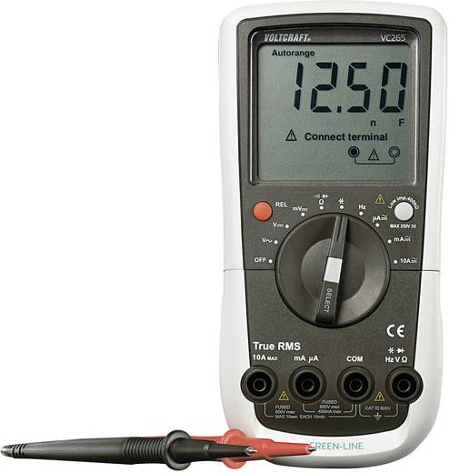 Hand-Multimeter digital VOLTCRAFT VC265 Kalibriert nach: Werksstandard CAT III 600 V Anzeige (Counts): 4000