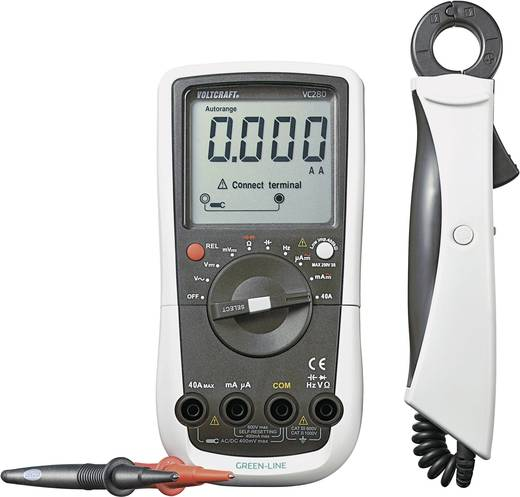 Hand-Multimeter, Stromzange digital VOLTCRAFT VC280 Kalibriert nach: DAkkS CAT III 600 V Anzeige (Counts): 4000