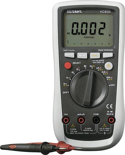 Hand-Multimeter digital VOLTCRAFT VC830 CAT III 1000 V, CAT IV 600 V Anzeige (Counts): 6000
