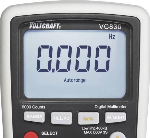 VOLTCRAFT VC830 Hand-Multimeter digital Kalibriert nach: DAkkS CAT III 1000 V, CAT IV 600 V Anzeige (Counts): 6000
