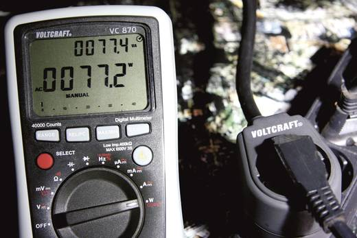 Hand-Multimeter digital VOLTCRAFT VC870 Kalibriert nach: Werksstandard CAT III 1000 V, CAT IV 600 V Anzeige (Counts): 40000