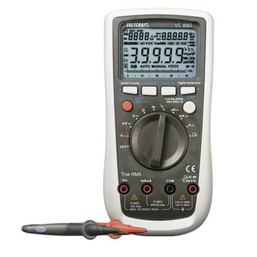 Hand-Multimeter digital VOLTCRAFT VC880 Kalibriert nach: Werksstandard Datenlogger CAT III 1000 V, CAT IV 600 V Anzeige (Counts): 40000