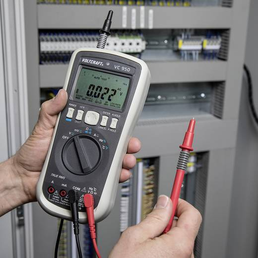 Hand-Multimeter digital VOLTCRAFT VC950 Kalibriert nach: ISO Datenlogger CAT III 1000 V, CAT IV 600 V Anzeige (Counts):