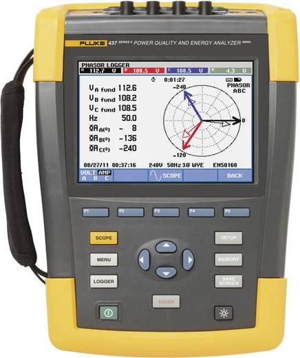 Netz-Analysegerät 3phasig mit Loggerfunktion, inkl. Stromzangen Fluke 437-II