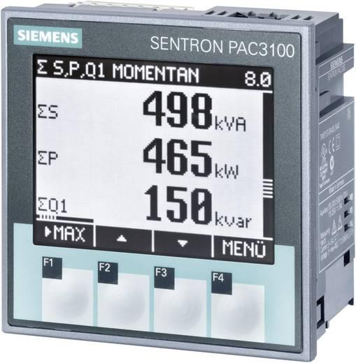 Siemens SENTRON PAC3100 Multifunktions-Messgerät SENTRON PAC3100 Max. 3 x 480/277 V/AC Einbaumaße 92 mm x 92 mm