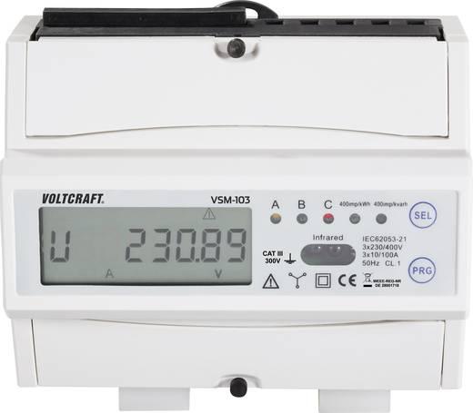 VOLTCRAFT® VSM-100 Smart Metering System Komplett-Set mit VSM-103 Zähler, VSM-101 Gateway, USB-Funkstick und Software