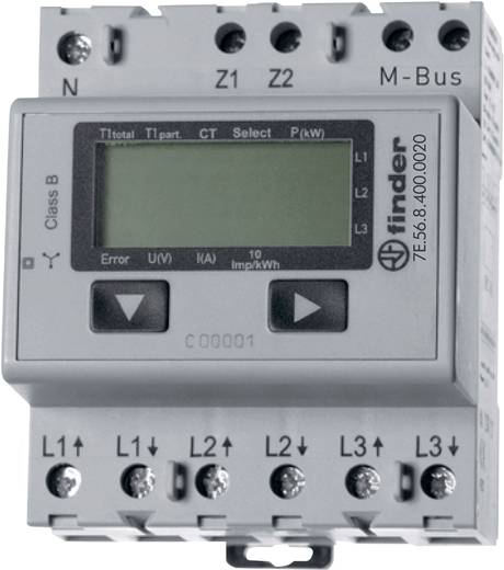 Drehstromzähler mit Wandleranschluss digital 5 A MID-konform: Nein Finder 7E.56.8.400.0020