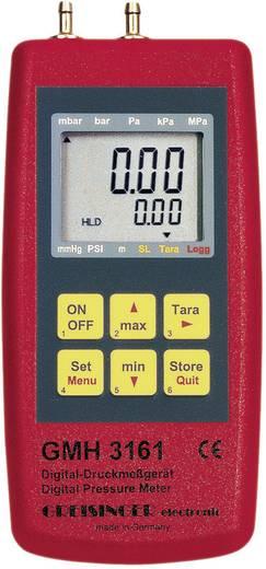 Druck-Messgerät Greisinger GMH 3161-01 Luftdruck, Nicht aggressive Gase, Korrosive Gase -0.001 - 0.025 bar Kalibriert n