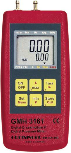 Greisinger GMH 3161-01 Druck-Messgerät Luftdruck, Nicht aggressive Gase, Korrosive Gase -0.001 - 0.025 bar
