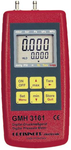 Druck-Messgerät Greisinger GMH 3161-13 Luftdruck, Nicht aggressive Gase, Korrosive Gase -0.1 - 2 bar Kalibriert nach DA