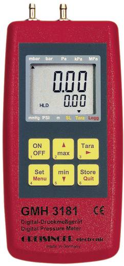 Druck-Messgerät Greisinger GMH 3181-01 Luftdruck, Nicht aggressive Gase, Korrosive Gase -0.001 - 0.025 bar Kalibriert n