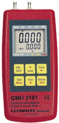 Druck-Messgerät Greisinger GMH 3181-13 Luftdruck, Nicht aggressive Gase, Korrosive Gase -0.1 - 2 bar Kalibriert nach IS