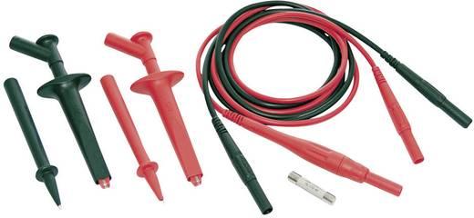 Sicherheits-Messleitungs-Set [ Lamellenstecker 4 mm - Lamellenstecker 4 mm] 1 m Schwarz, Rot MultiContact SET CAT IV