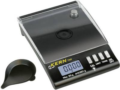 Pocket scales Kern Weight range 20 g Readability 0.001 g