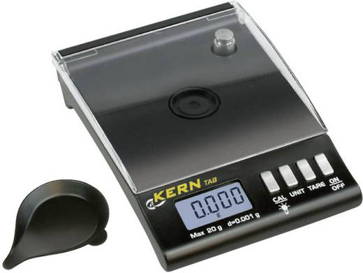 Kern TAB 20-3 Taschenwaage Wägebereich (max.) 20 g Ablesbarkeit 0.001 g batteriebetrieben Schwarz Kalibriert nach Werks