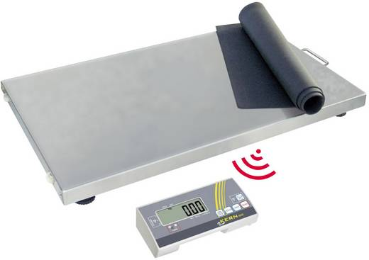 Plattformwaage Kern Wägebereich (max.) 300 kg Ablesbarkeit 100 g netzbetrieben, batteriebetrieben Silber