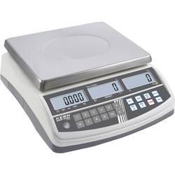 Počítací váha Kern Max. váživost 15 kg, Rozlišení 0.2 g, stříbrná, Kalibrováno dle ISO