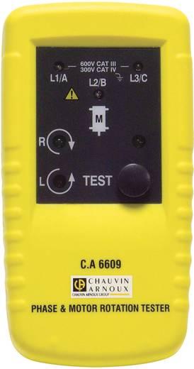 Chauvin Arnoux C.A 6609 Drehfeld- und Motordrehrichtungsanzeiger CAT III 600 V Kalibriert nach ISO