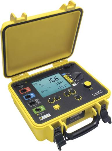Erdungsmessgerät Chauvin Arnoux C.A 6471 Kalibriert nach ISO