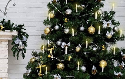 Polarlite LCA-01-001 Weihnachtsbaum-Beleuchtung Innen netzbetrieben 16 Halogen Warm-Weiß Beleuchtete Länge: 6 m