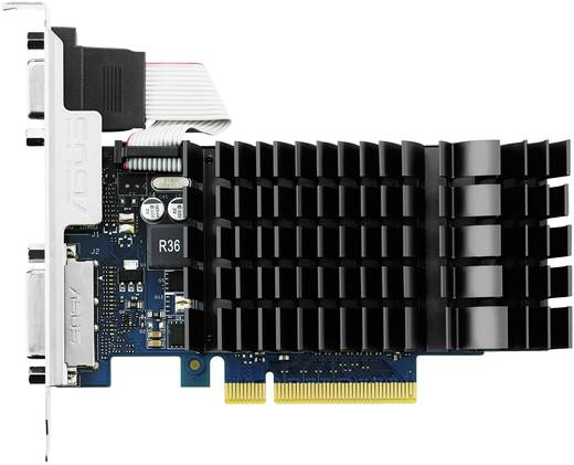 Asus Grafikkarte Nvidia GeForce GT730 2 GB GDDR3-RAM PCIe x8 HDMI™, DVI, VGA