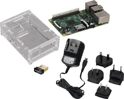 Raspberry Pi® Model B+ Starter Set WLAN 512 MB ohne Betriebssystem inkl. Netzteil, inkl. Gehäuse, inkl. WLAN-Stick